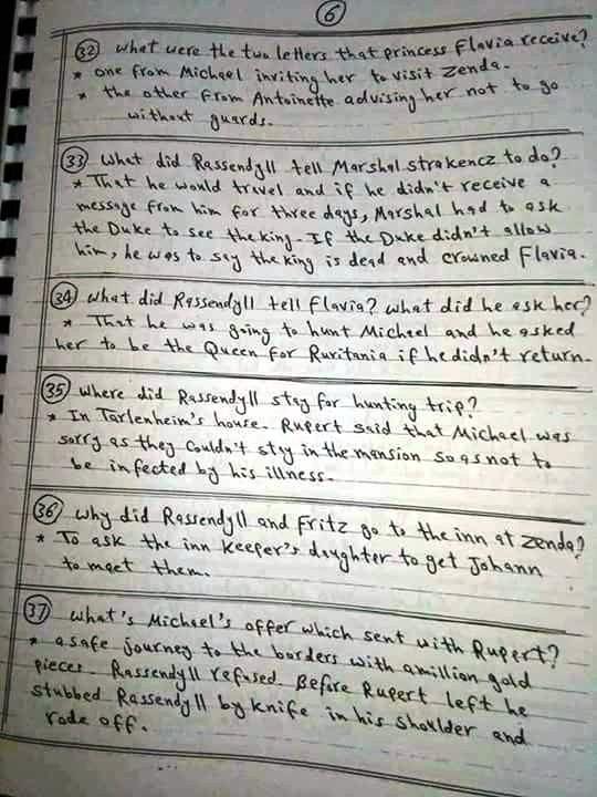 بالاجابات: أهم أسئلة سجين زندا في 7 ورقات 6
