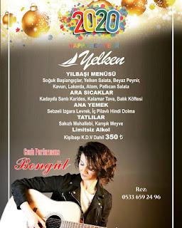 Yeniköy Yelken Restaurant İstanbul Yılbaşı Programı 2020 Menüsü