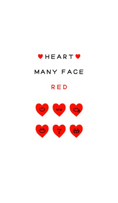 HEART MANY FACE RED