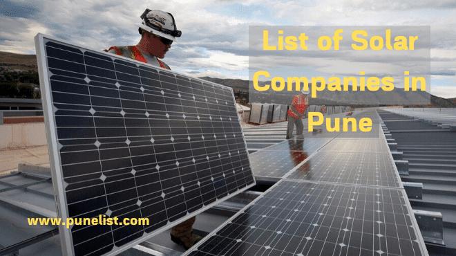 Solar Companies in Pune