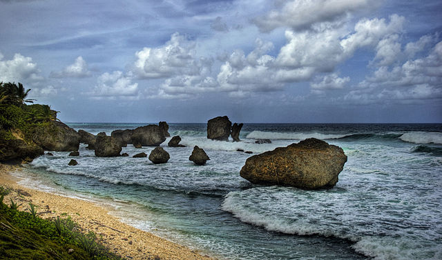 A stunning Caribbean land and seascape