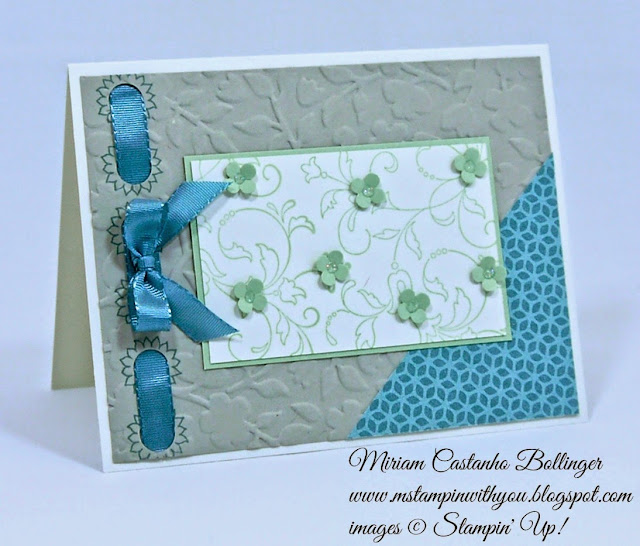 Miriam Castanho Bollinger, #mstampinwithyou, stampin up, demonstrator, pp 244, all occasions card, flower pot dsp, bordering blooms, creative elements, texture boutique machine, spring flowers TIEF, itty bitty shapes punch, su