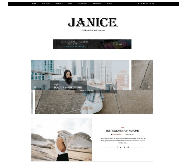 قالب Janice Fashion جانيس فاشن