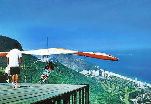 Esportes-vôos-asa delta