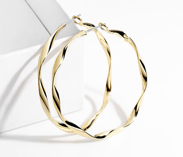 閃亮波紋圈圈耳環