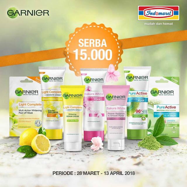 Promo Garnier Serba Rp 15.000 hanya di Indomaret