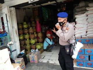 Cegah Covid-19, Polres Pelabuhan Terus Awasi Kedisiplinan Prokes di Keramaian