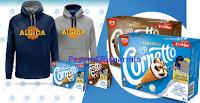 Logo Vinci 500 felpe Algida con il concorso '' Gusta e gioca con Cornetto''