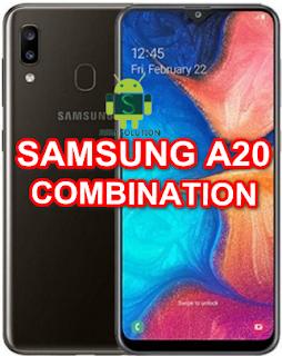 Samsung A20 SM-A205W Binary U5 Combination Firmware/Stockrom/Flashfile Download