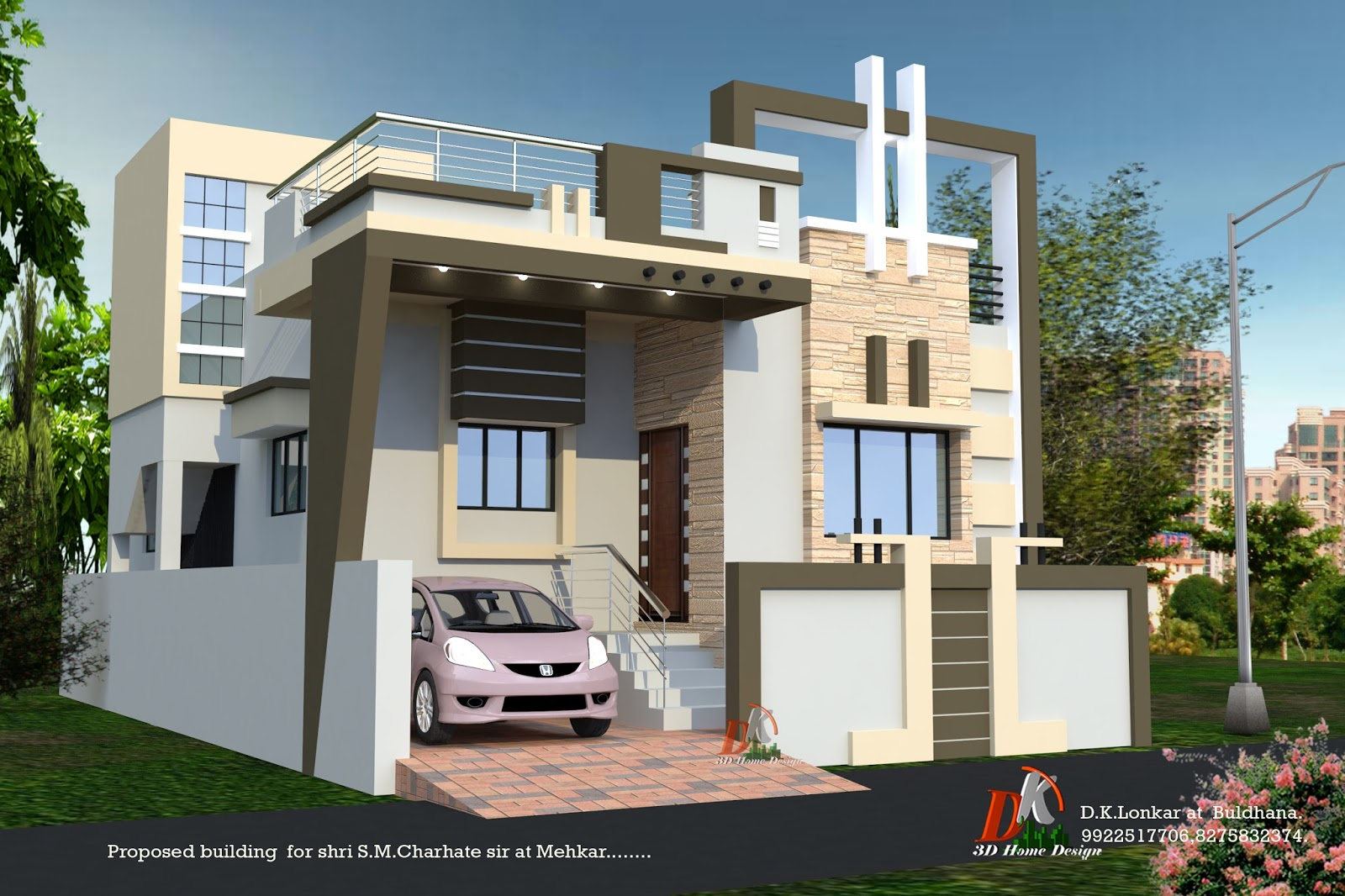 3d plan of house with details D K 3D HOME DESIGN