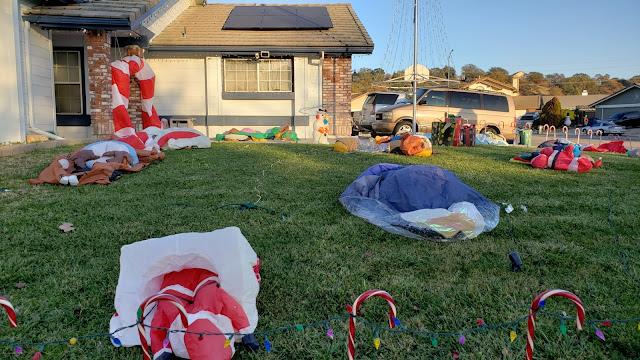 Deflated Christmas Yard Decorations