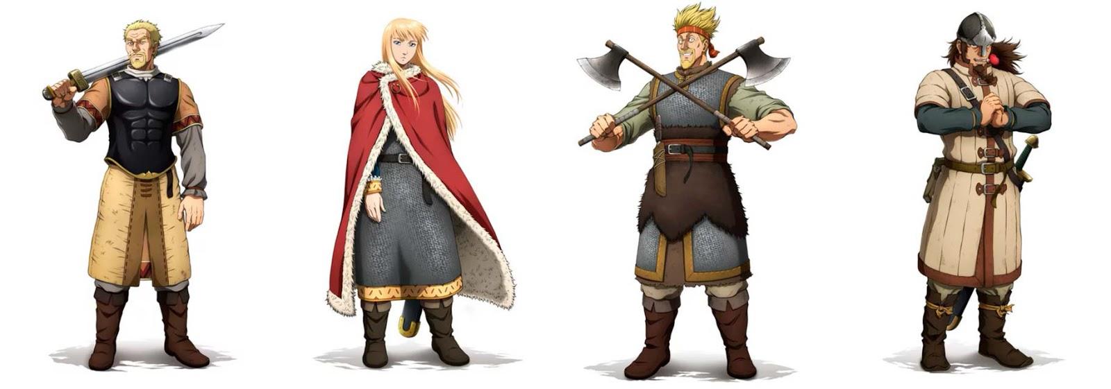 Vinland Saga anime - personajes