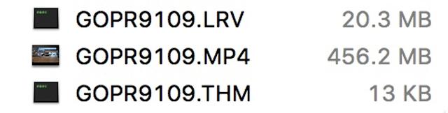 【攝影知識】GoPro 拍攝完影片,裡面的 .lrv 和 .thm 檔案是做什麼用? - .lrv 和 .thm 主要是作為「快速檢視」之用
