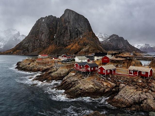Hamnøy, Moskenes, Norwegia