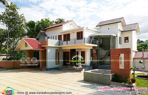 Finished house at Kerala with its 3d design