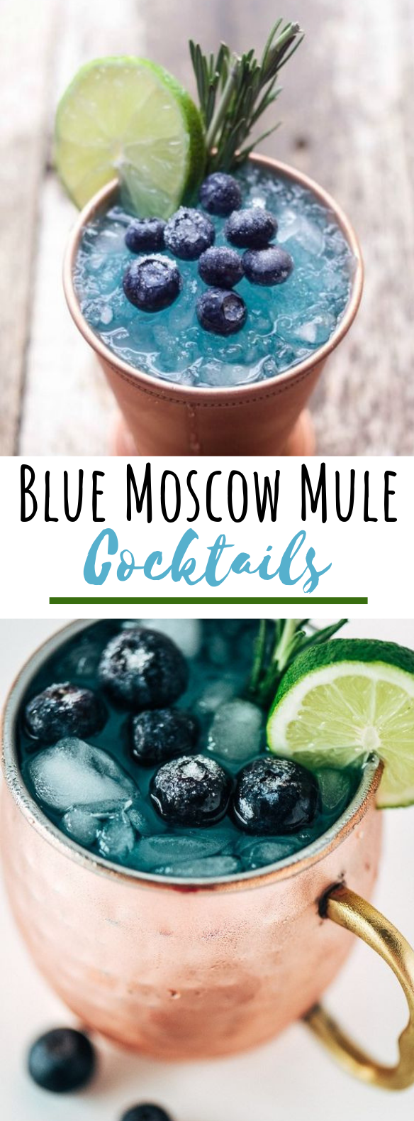 Blue Mule Cocktail #drinks #cocktails