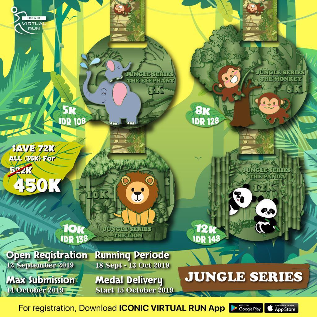 Iconic Virtual Run - Jungle Series • 2019