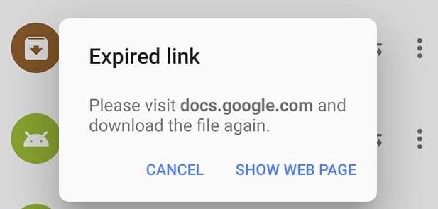 Solusi Proses Download Gagal Karena Link Kadaluarsa