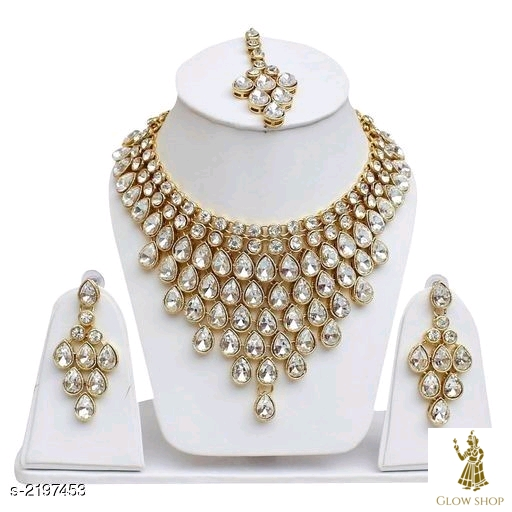 Trendy Metal Bridal Jewellery Set
