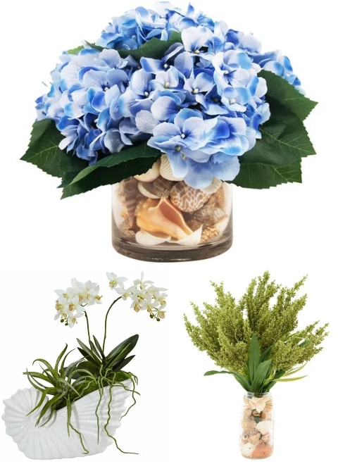 Faux Flowers with Shells