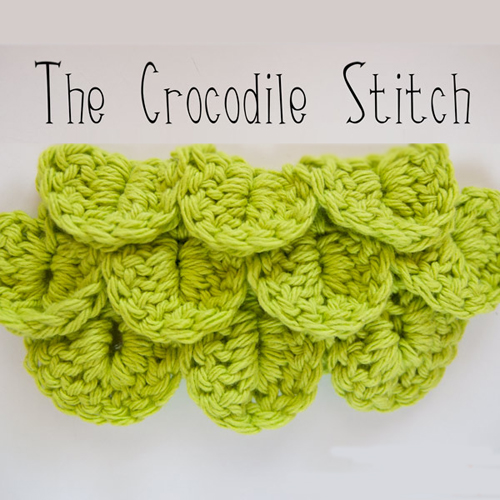 The Crocodile Crochet Stitch - Tutorial