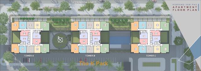 Mặt bằng chung cư the k park