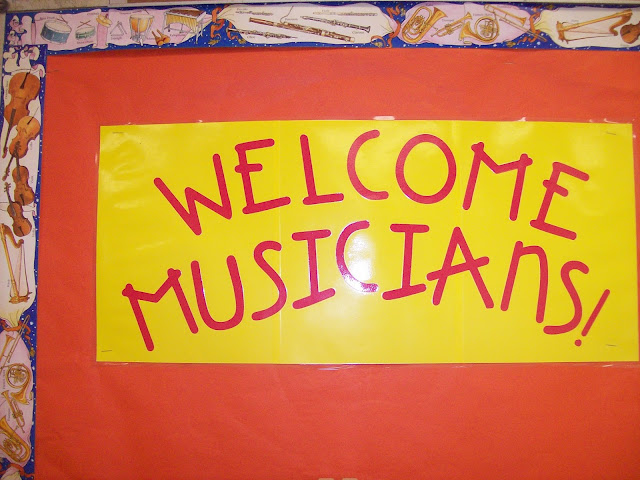 welcome musicians bulletin board