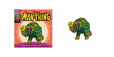 Man-Thing Marvel Comics Enamel Pin by Dan Hipp x Mondo