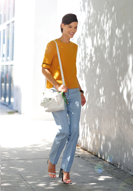 mustard yellow and pastel blue