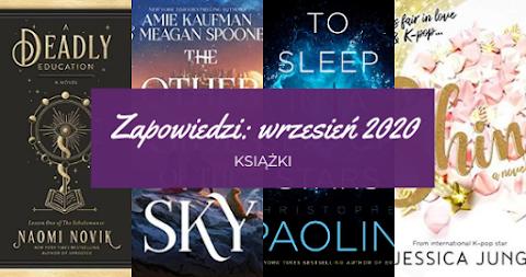 Zapowiedzi wrzesień 2020: książki