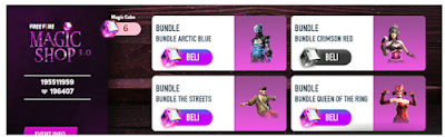 Cara Mendapatkan Bundle Arctic Blue FF dan Bundle Crimson Red di Event Magic Shop 3.0 Free Fire