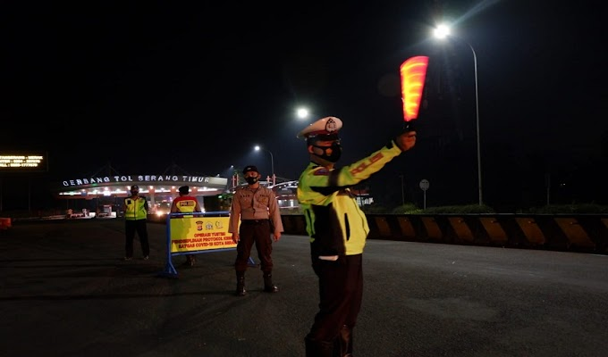 Ops Pendisiplinan Prokes, Polres Serang Kota Terjunkan Puluhan Personel