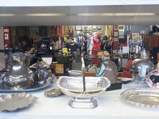 Interior of an antique shop in Woodstock, Cape Town