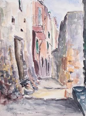 Due acquerelli di Giovanni Tribaudino - arte dipinti