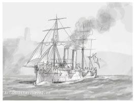 Boceto crucero Reina Mercedes 4