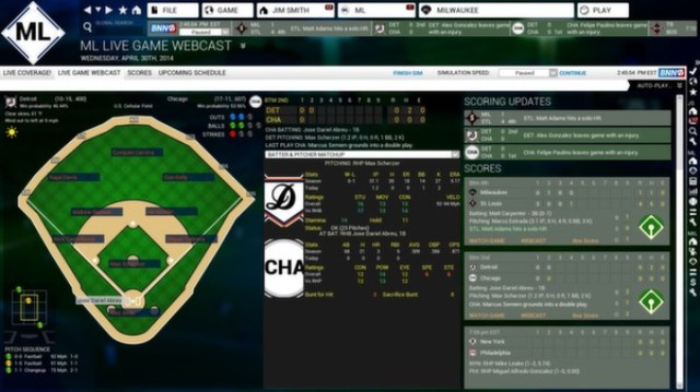 Out of the Park Baseball 15 PC Games Gameplay
