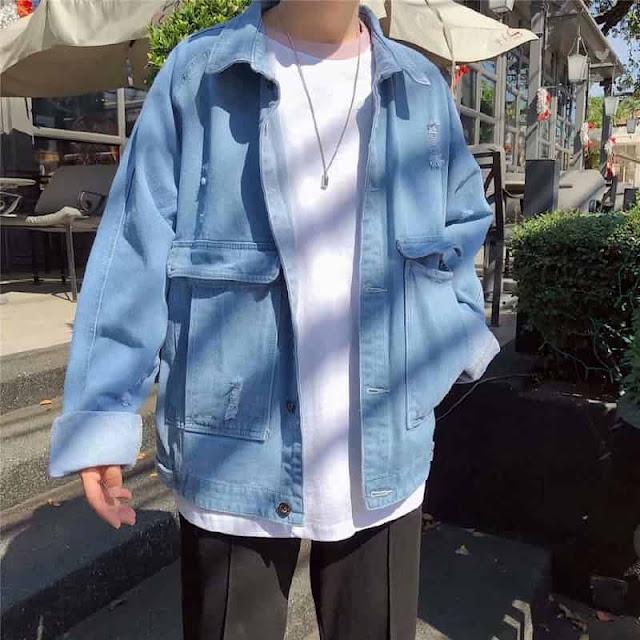 phối đồ bad boy với áo khoác oversize
