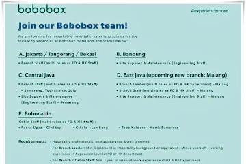 Loker Bandung Karyawan Bobobox  Jawa Barat