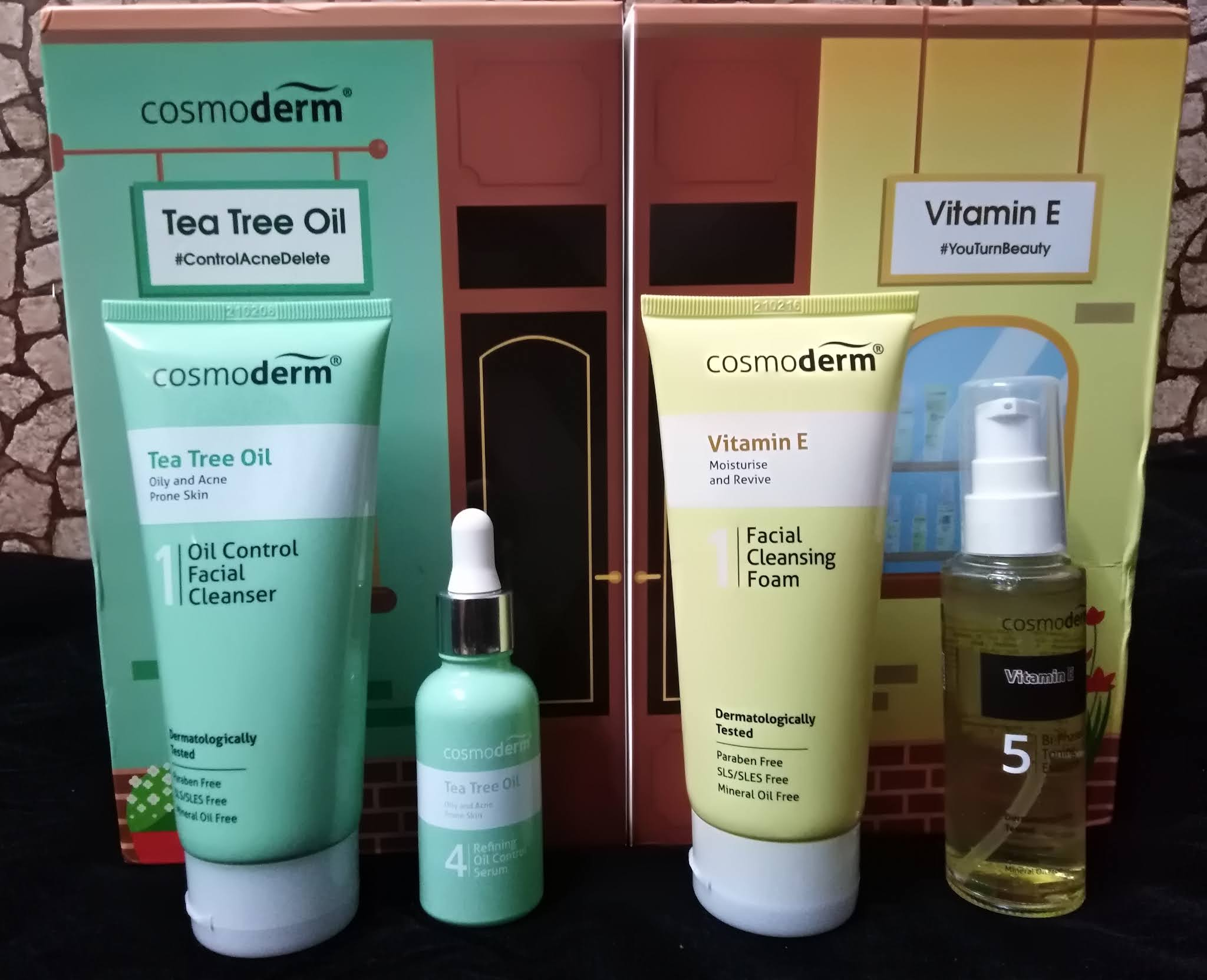 Hindari Masalah Jerawat Dan Parut Jerawat Dengan Cosmoderm Vitamin E dan Tea Tree Oil