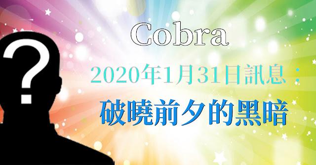 [揭密者][柯博拉Cobra] 2020年1月30日:破曉前夕的黑暗