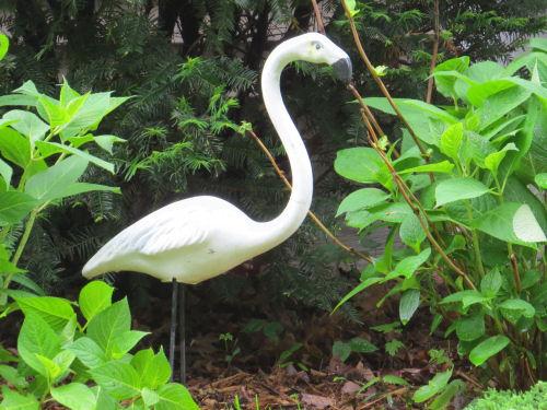 white flamingo ornament