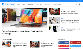 SuperMag v1.0 - Free Magazine Blogger Template