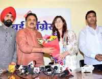 Television Actor Shilpa Shinde Joins Congress Today (5th Feb 2019)