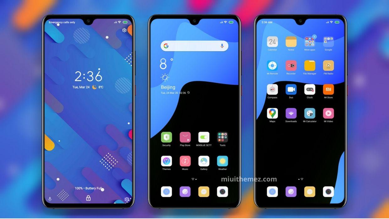 [HERUNTERLADEN] : Mischen Sie das blaue V11 MIUI-Thema für Xiaomi Redmi-Geräte