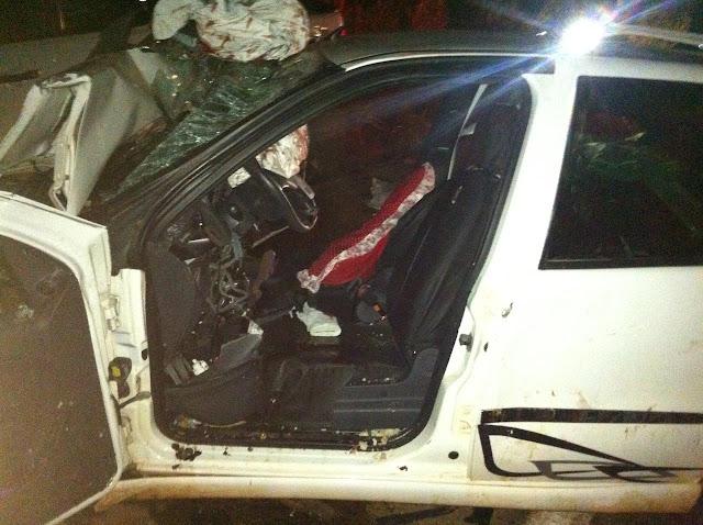 Grave acidente na BR 429 próximo de São Miguel envolvendo três veículos
