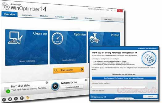 Ashampoo WinOptimizer the best Windows optimizer & Windows Errors fixing Software, pc speed booster, disc cleaner, registry cleaner, privacy protector, internet connection optimizer software