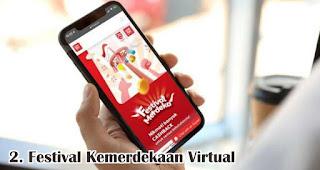 Festival Kemerdekaan Virtual merupakan salah satu perbedaan dan kebiasaan baru perayaan HUT RI di masa pandemi