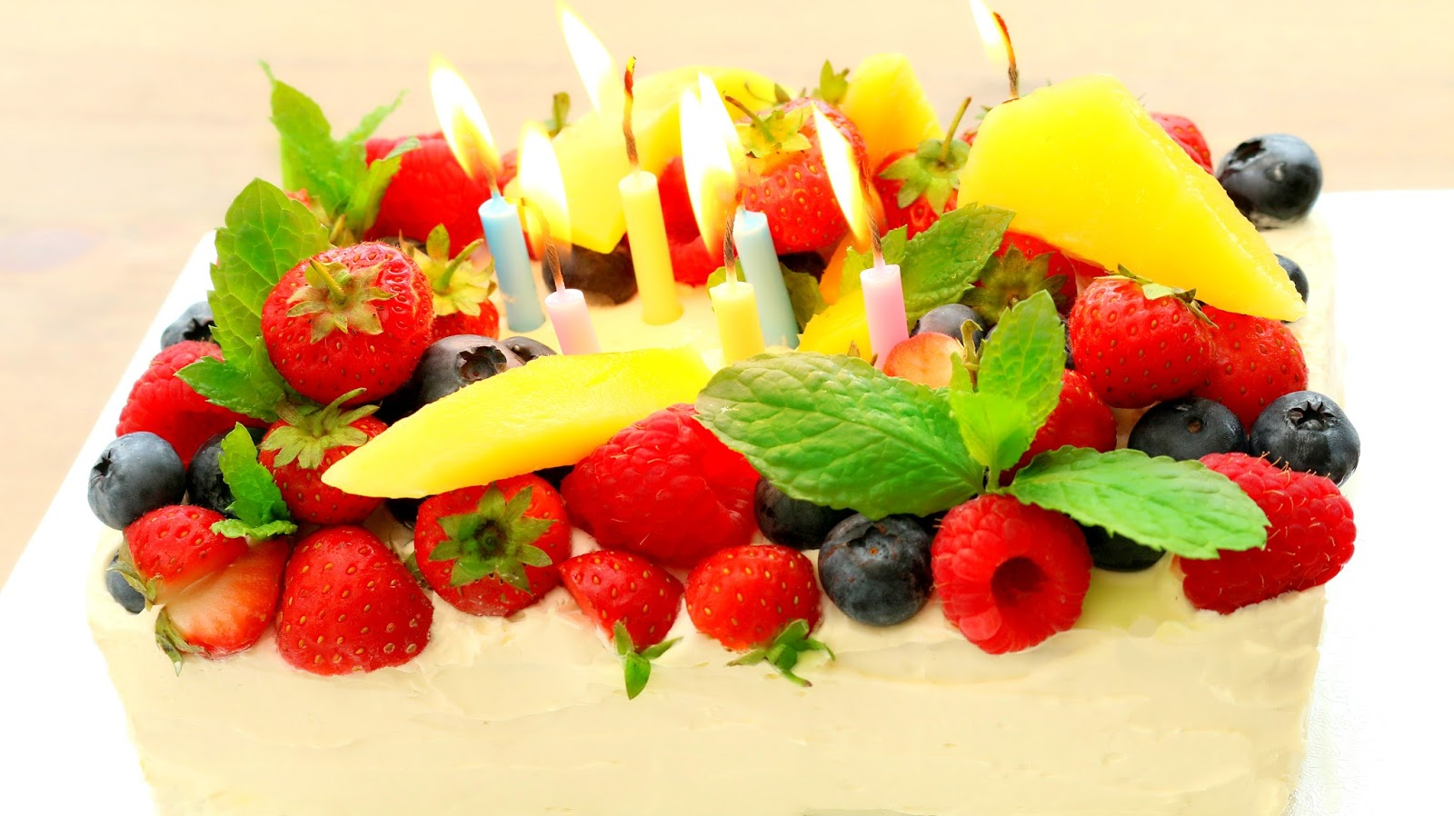 Josephines Recipes How To Make Fresh Fruit Cream Cake Ogura - Birthday cake chinese style