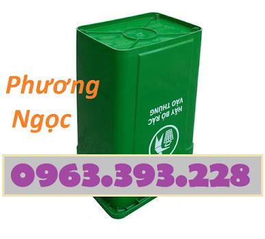 Thùng rác nhựa 90L nắp kín, thùng rác 90 Lít công cộng, thùng rác nắp kín TR90LNK2