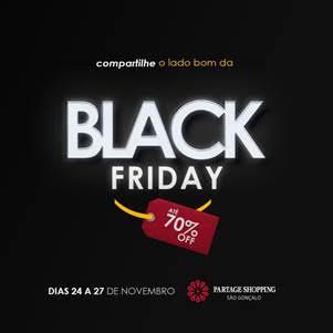 Partage Shopping São Gonçalo promove Black Friday com descontos de até 70%